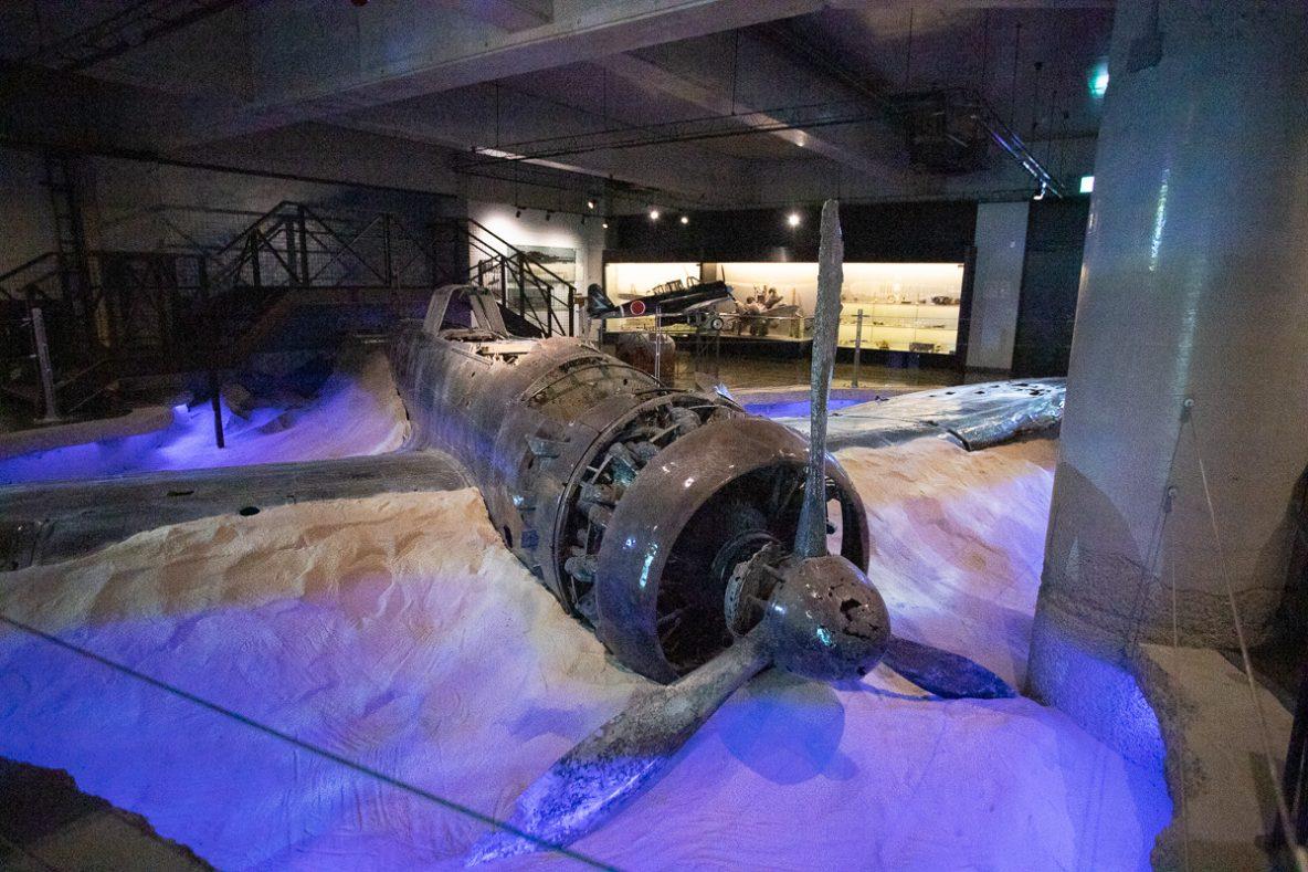 ▲日本でただ一機の「海軍零式三座水上偵察機」の展示も